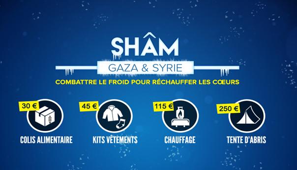 Ummah Charity : Campagne Shâm Gaza & Syrie