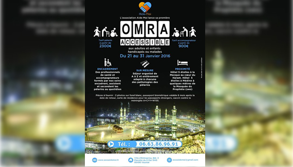 Aide-moi - Article actu - Flyer Omra