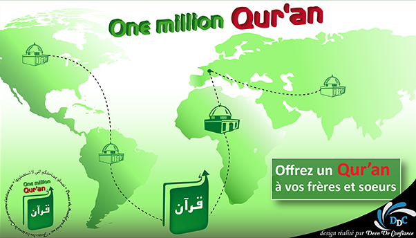 Association One Million Qur'an : Distribution de la Parole Divine