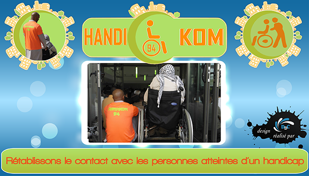 Handikom94, l'association au service des personnes en situation de handicap.