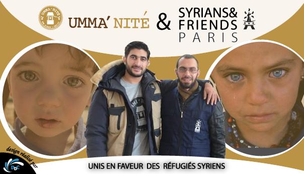 Syrians & Friends Paris et Umma'nité : L'union solidaire en faveur des victimes du conflit syrien
